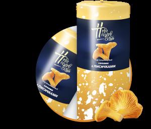 Сыр Салями с лисичками 0,3кг - фото 1