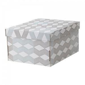 СМЕКА, Коробка с крышкой, белый, с рисунком - фото 1