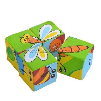 """Игрушка кубики """"Собери картинку""""(Насекомые) - фото 1"""
