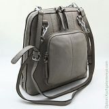 Женский кожаный рюкзак Sergio Valentini СА 2703/Ф Светло-серый