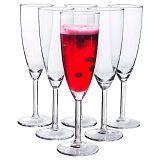 СВАЛЬК набор бокалов для шампанского, прозрачное стекло,