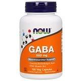 Now Foods, ГАМК, 500 мг, 100 растительных капсул