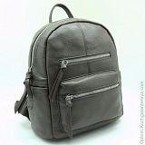 Женский кожаный рюкзак Sergio Valentini СА 2705/С серый