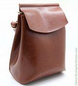 Рюкзак женский кожаный 12408 Рыжий