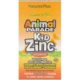 Nature's Plus, Source of Life, Animal Parade, пастилки Kid Zinc, вкус натурального мандарина, 90животных