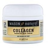 Mason Natural, Коллагеновый крем для кожи премиум-класса с ароматом груши, 2 ж. унц. (57 г)