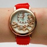 Наручные часы - красные с силиконовым браслетом